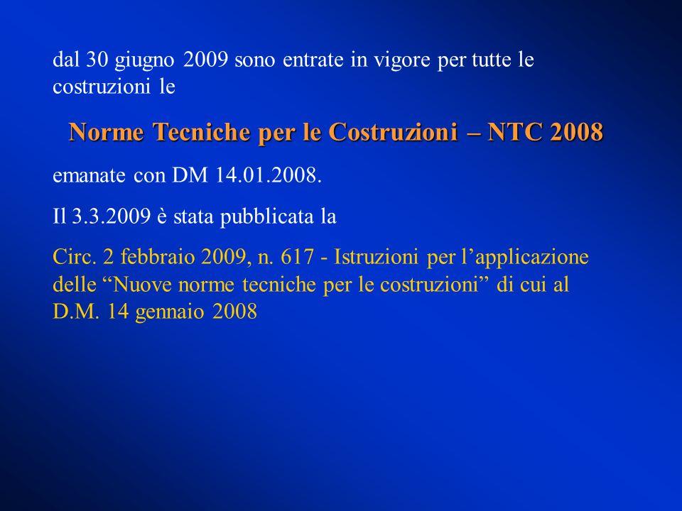 Norme Tecniche per le Costruzioni – NTC 2008