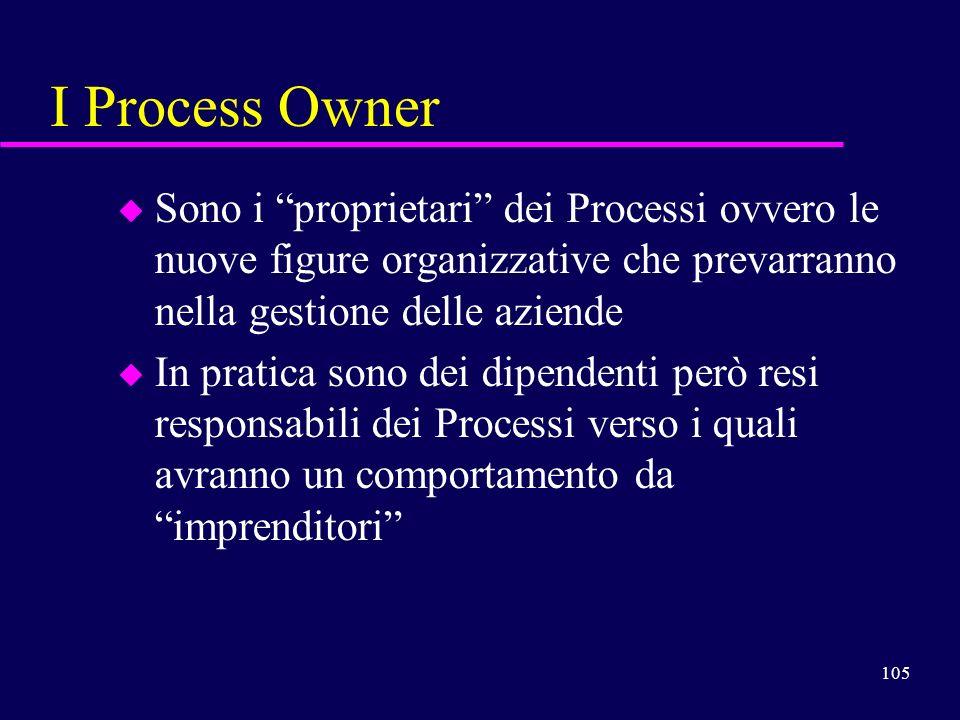 I Process Owner Sono i proprietari dei Processi ovvero le nuove figure organizzative che prevarranno nella gestione delle aziende.