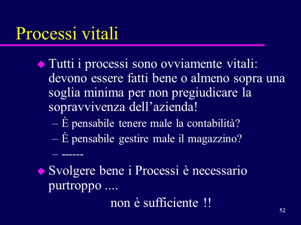 Processi vitali