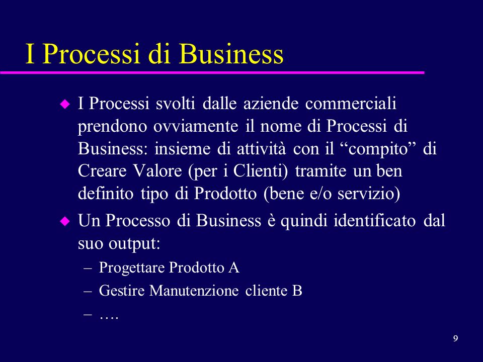 I Processi di Business