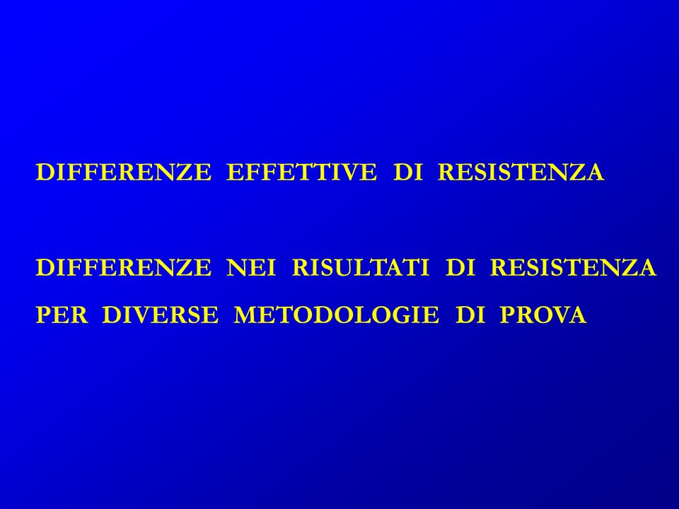 DIFFERENZE EFFETTIVE DI RESISTENZA