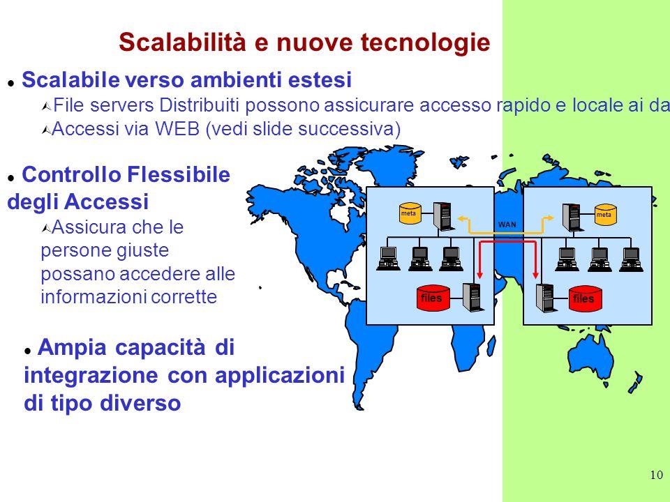 Scalabilità e nuove tecnologie