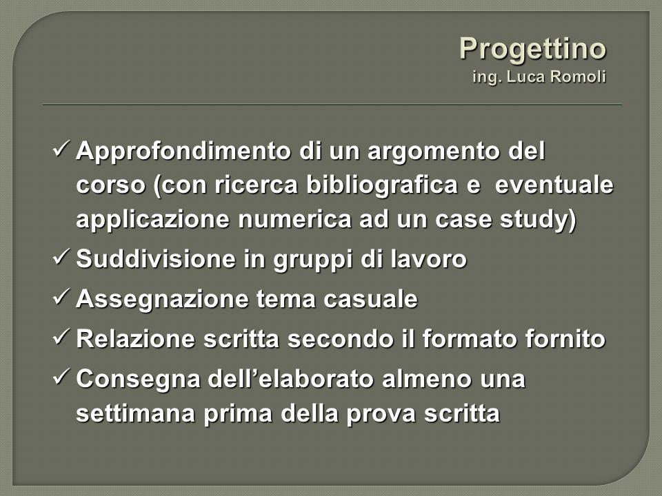 Progettino ing. Luca Romoli