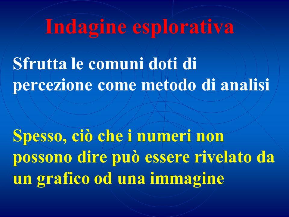 Indagine esplorativaSfrutta le comuni doti di percezione come metodo di analisi.