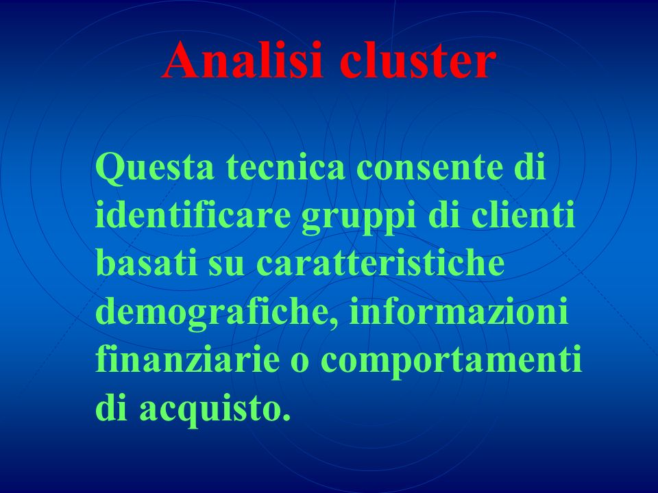 Analisi cluster