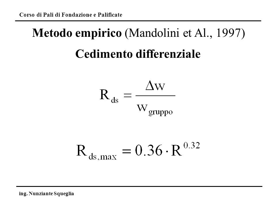Cedimento differenziale