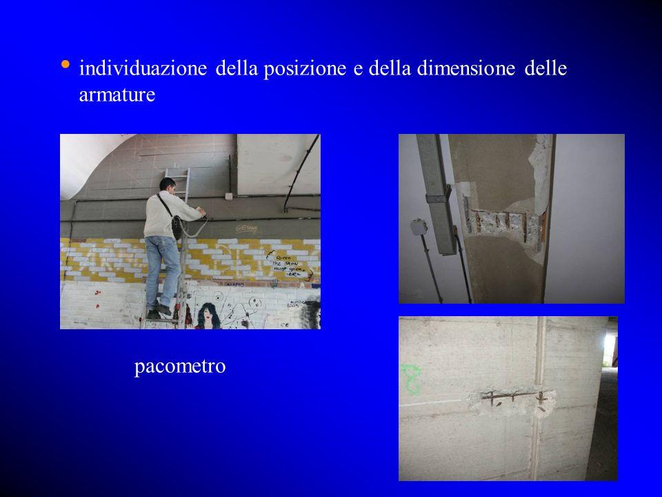 individuazione della posizione e della dimensione delle armature