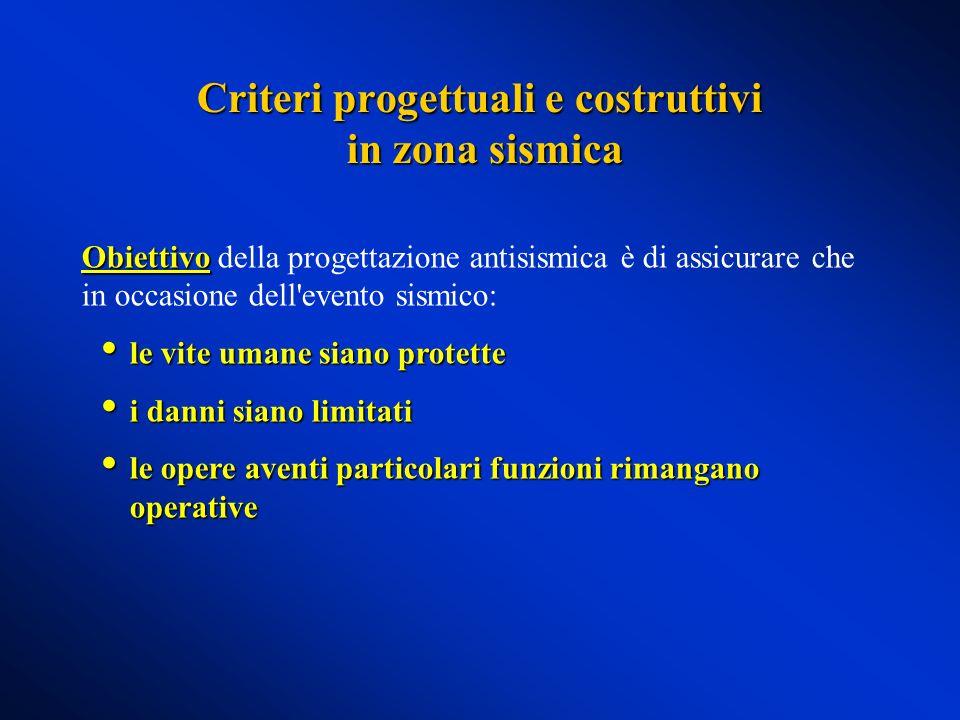 Criteri progettuali e costruttivi in zona sismica