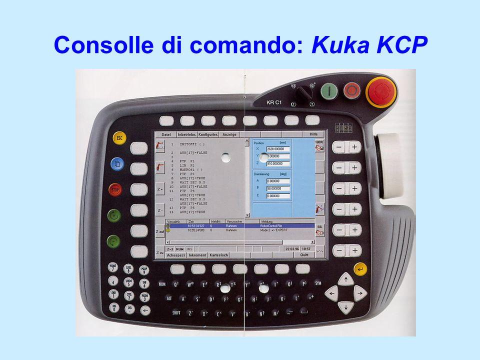 Consolle di comando: Kuka KCP