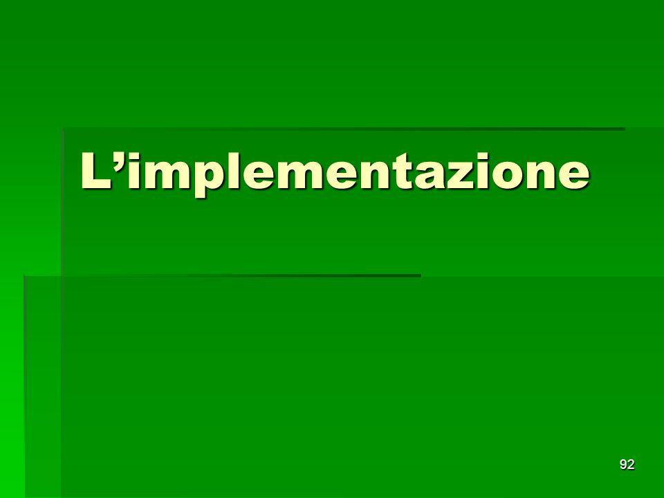 L'implementazione