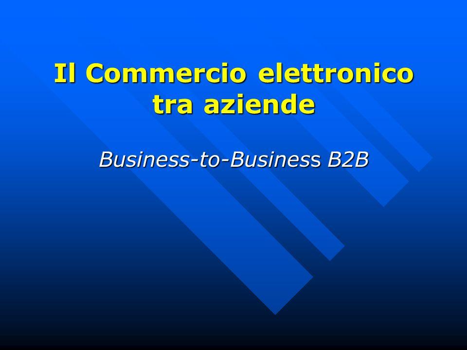 Il Commercio elettronico tra aziende