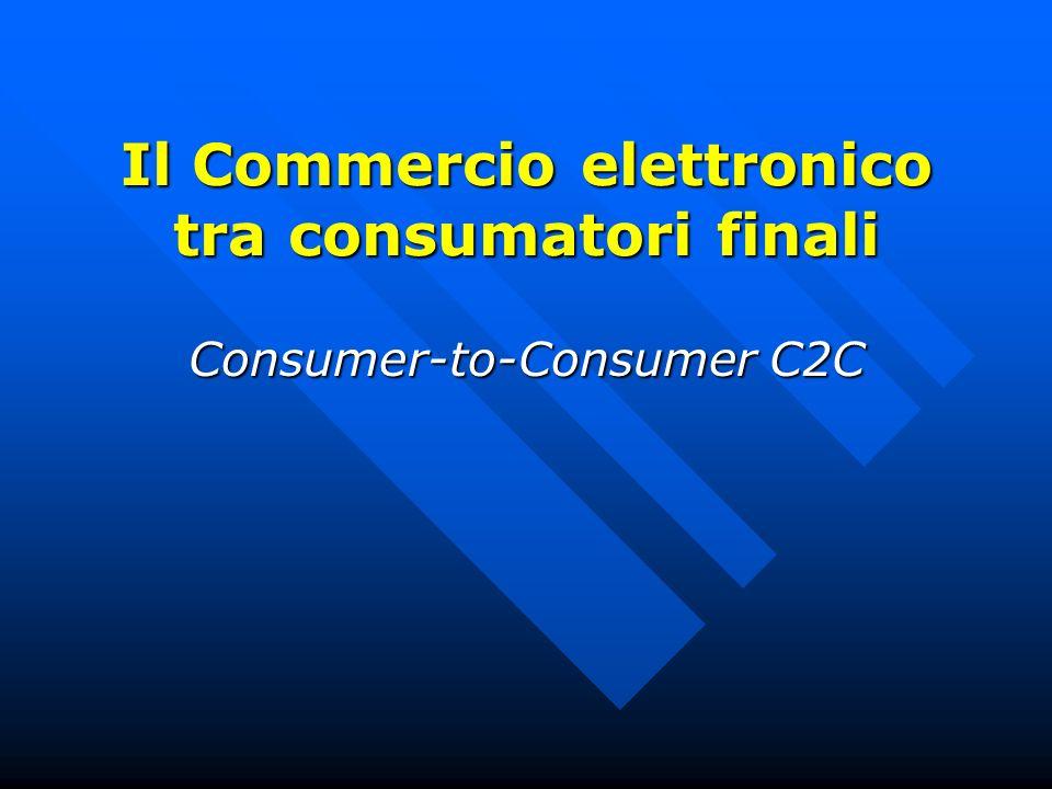 Il Commercio elettronico tra consumatori finali