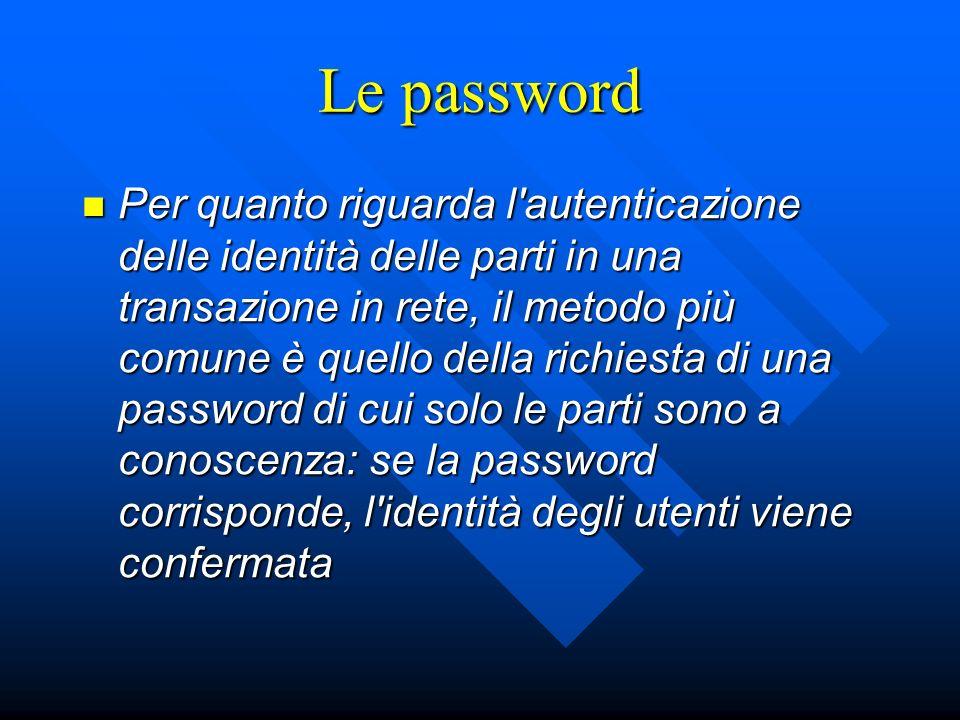 Le password