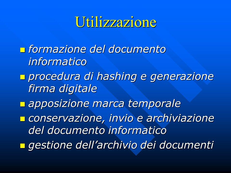 Utilizzazione formazione del documento informatico