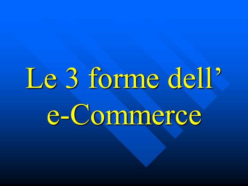Le 3 forme dell' e-Commerce