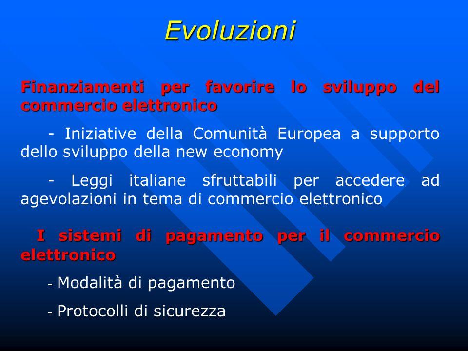 Evoluzioni I sistemi di pagamento per il commercio elettronico