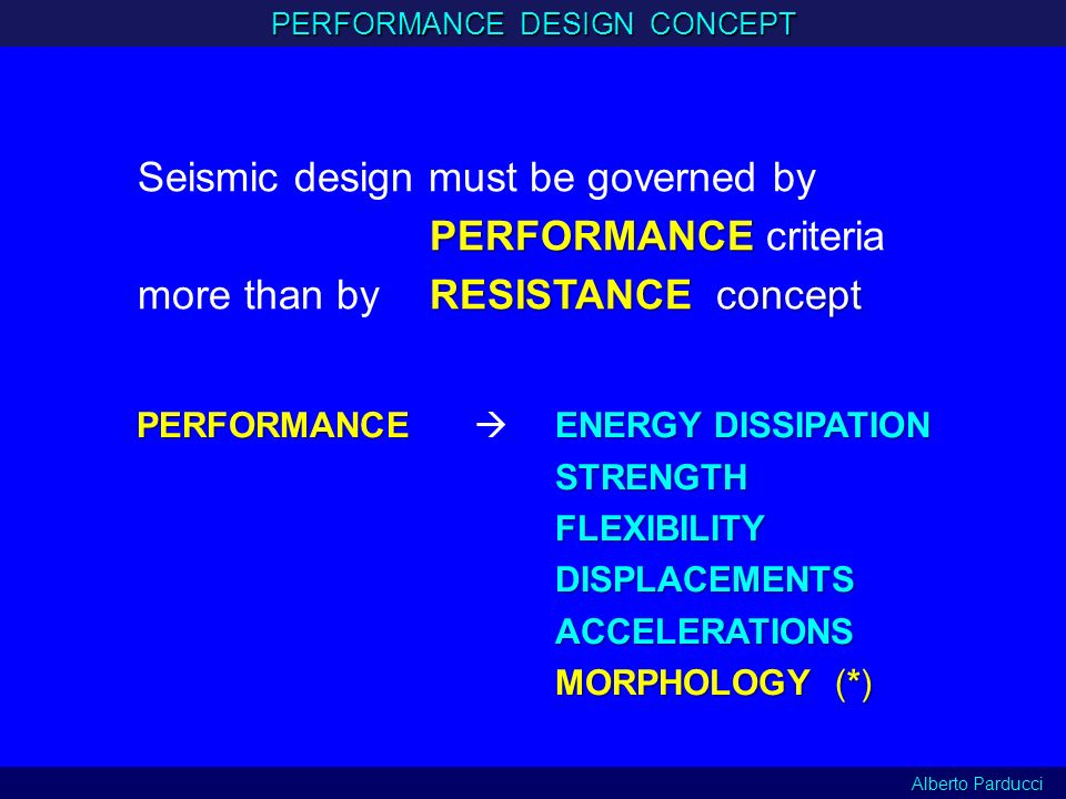 PERFORMANCE DESIGN CONCEPT