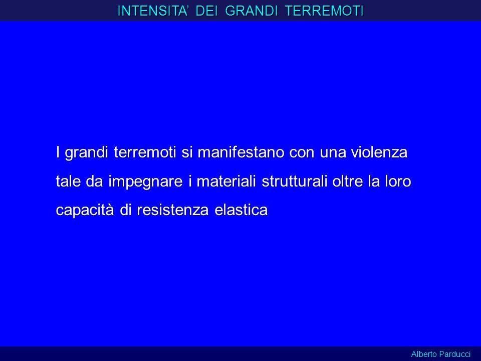 INTENSITA' DEI GRANDI TERREMOTI
