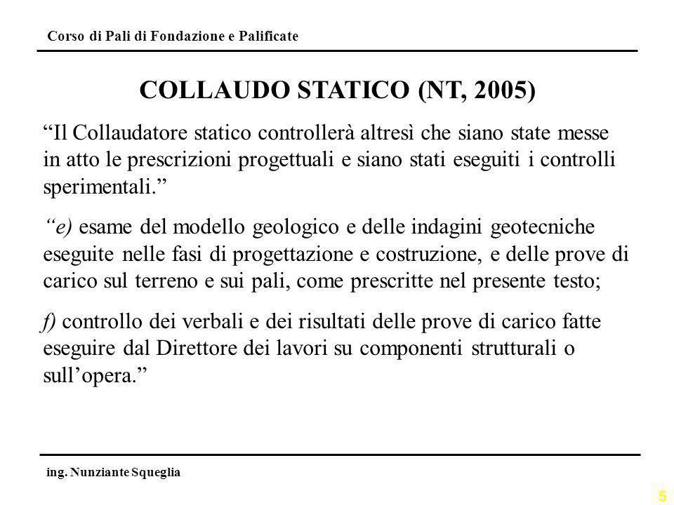 COLLAUDO STATICO (NT, 2005)