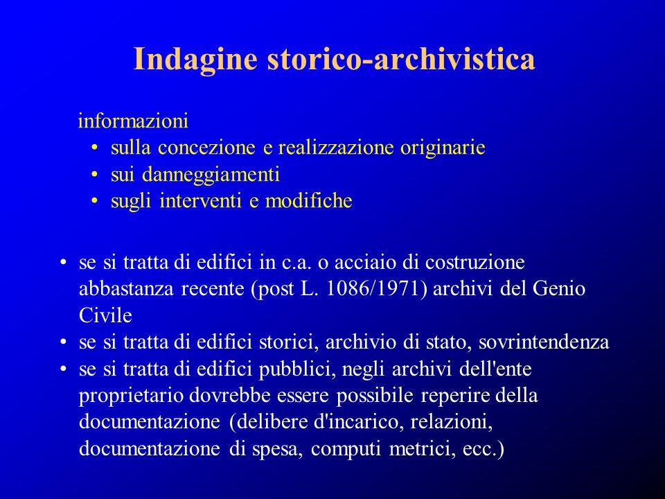 Indagine storico-archivistica