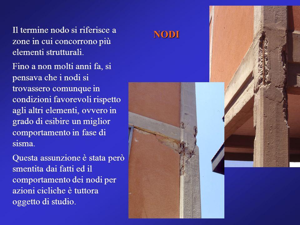 Il termine nodo si riferisce a zone in cui concorrono più elementi strutturali.