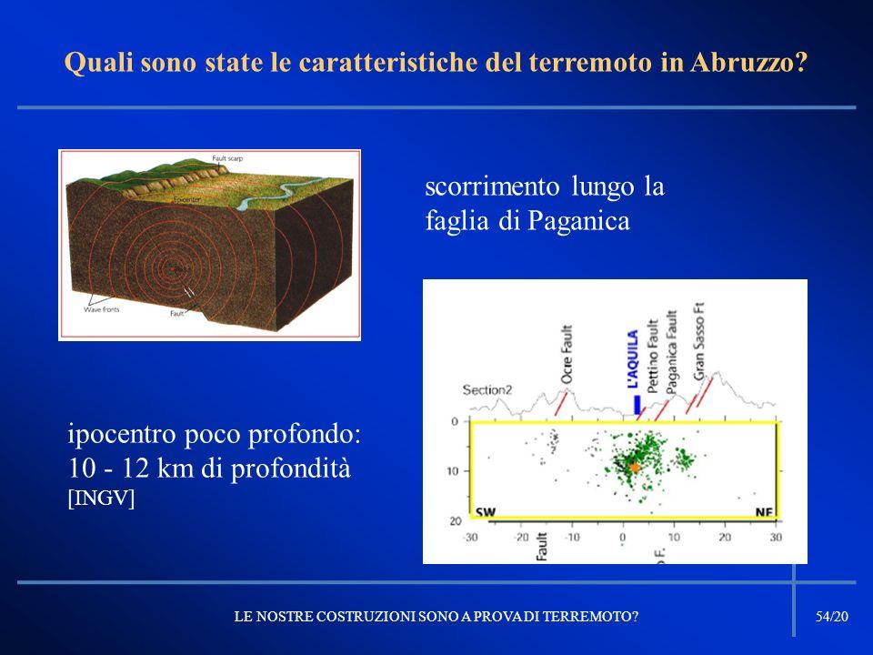 Quali sono state le caratteristiche del terremoto in Abruzzo