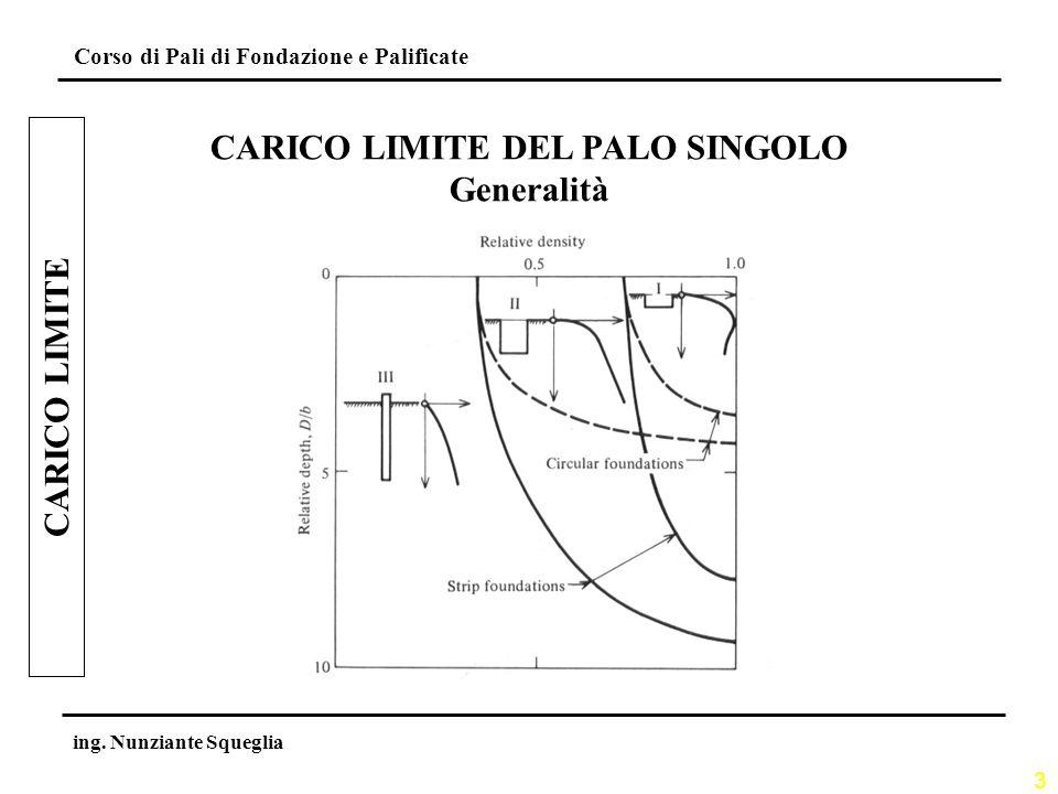 CARICO LIMITE DEL PALO SINGOLO