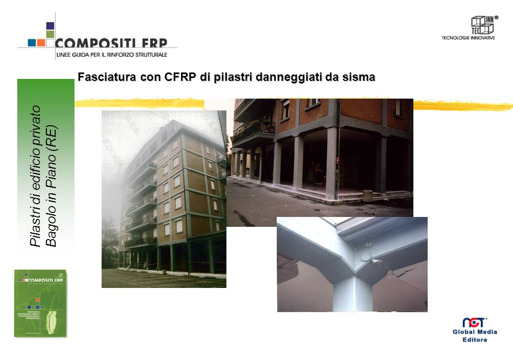 Pilastri di edificio privato Bagolo in Piano (RE)