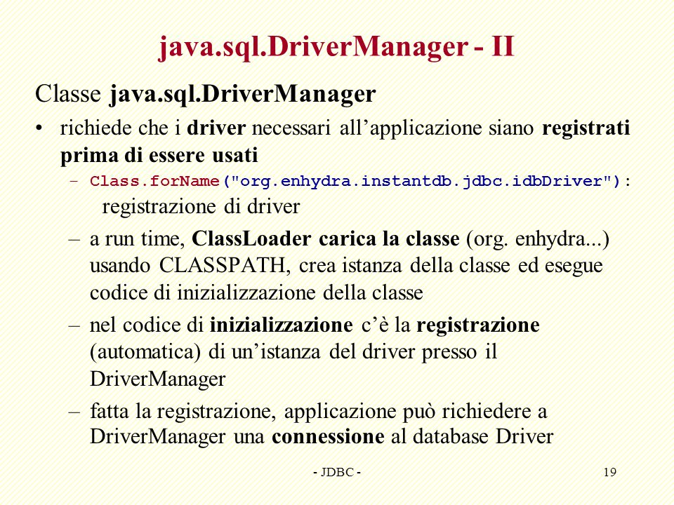 java.sql.DriverManager - II