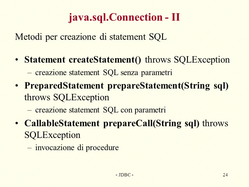 java.sql.Connection - II