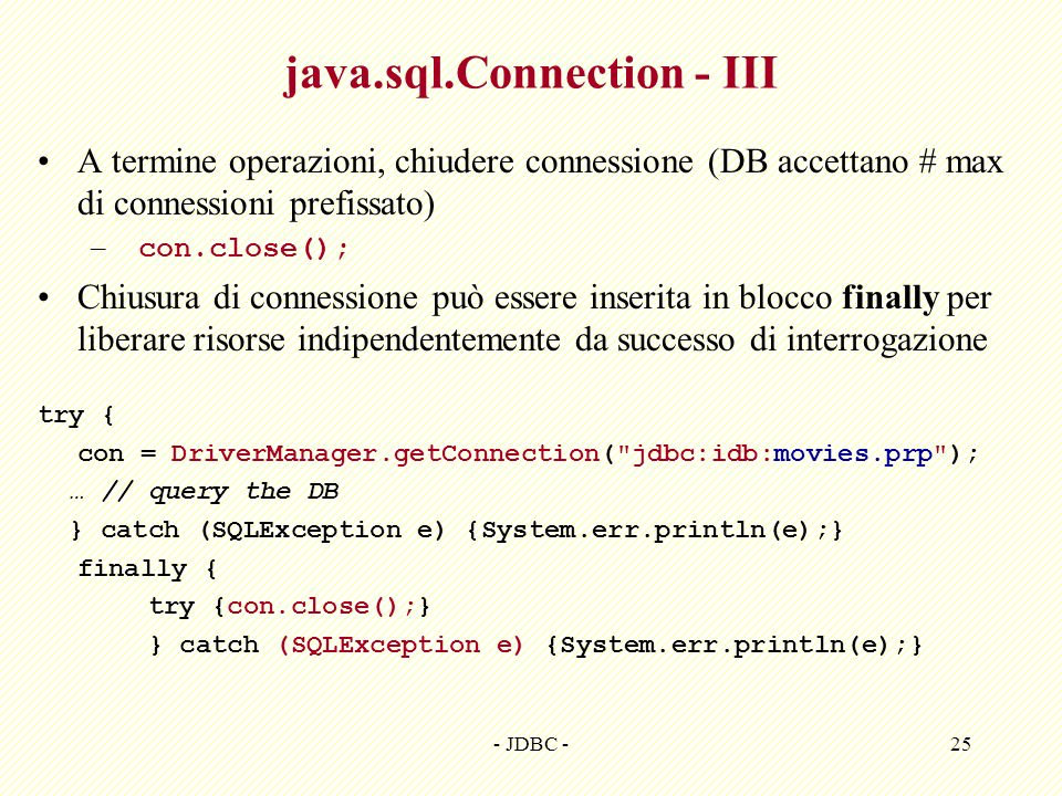 java.sql.Connection - III