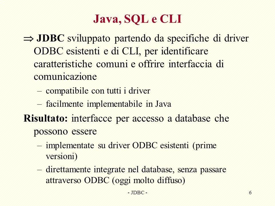 Java, SQL e CLI