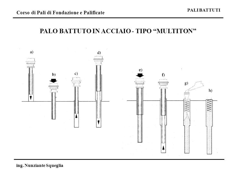 PALO BATTUTO IN ACCIAIO - TIPO MULTITON