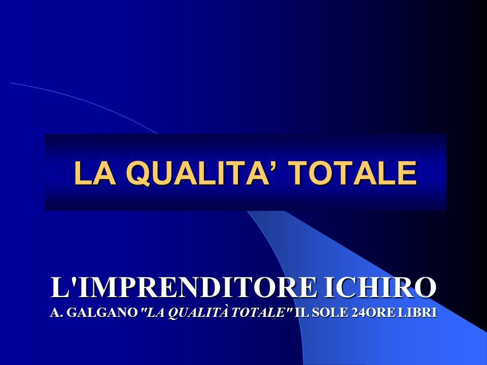 LA QUALITA' TOTALE L IMPRENDITORE ICHIRO A. GALGANO LA QUALITÀ TOTALE IL SOLE 24ORE LIBRI