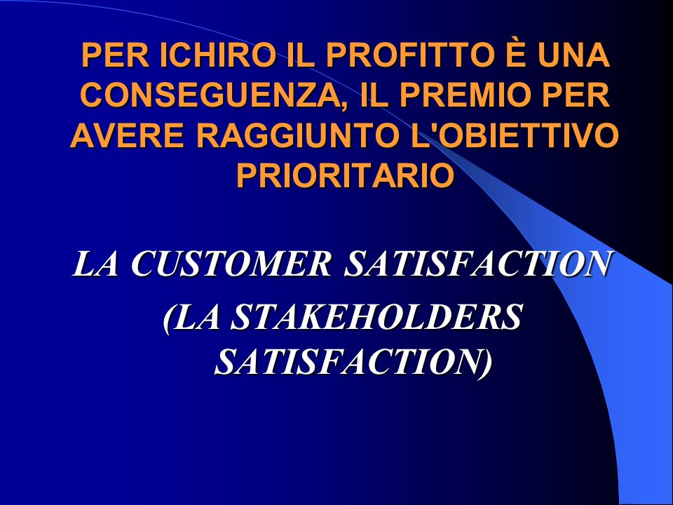 LA CUSTOMER SATISFACTION (LA STAKEHOLDERS SATISFACTION)