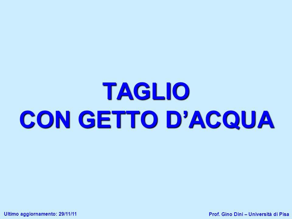 TAGLIO CON GETTO D'ACQUA