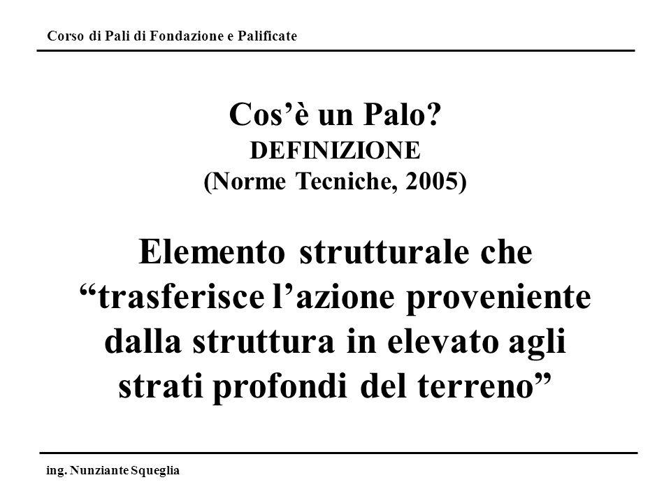 Cos'è un Palo DEFINIZIONE. (Norme Tecniche, 2005)