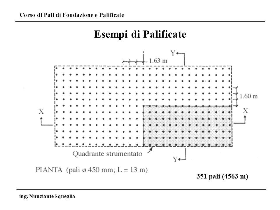 Esempi di Palificate 351 pali (4563 m) ing. Nunziante Squeglia