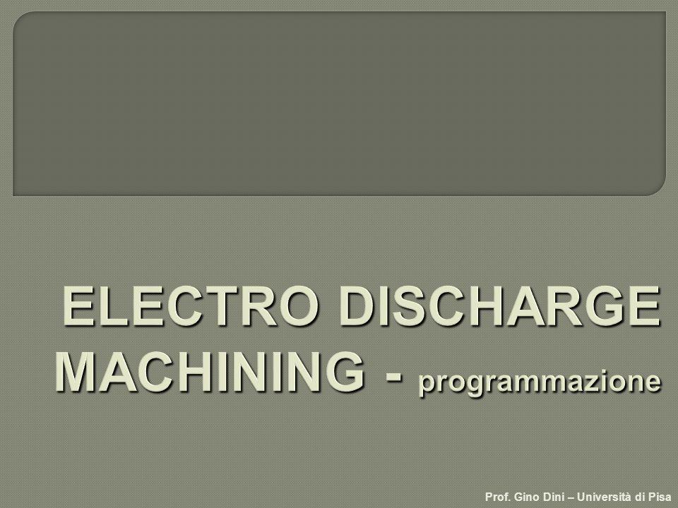 ELECTRO DISCHARGE MACHINING - programmazione