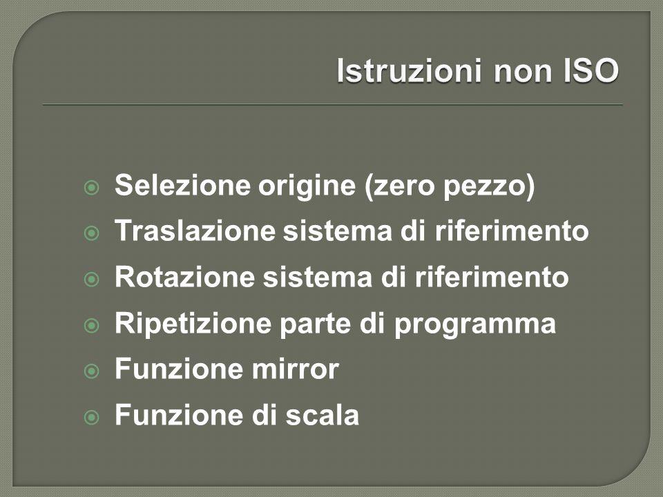 Istruzioni non ISO Selezione origine (zero pezzo)
