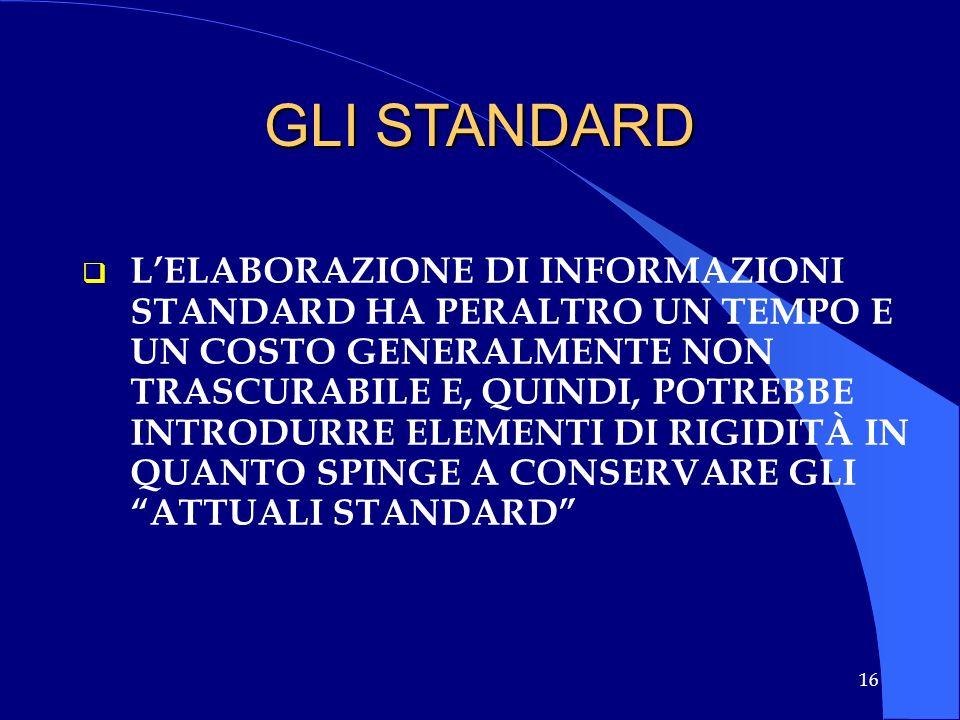 GLI STANDARD