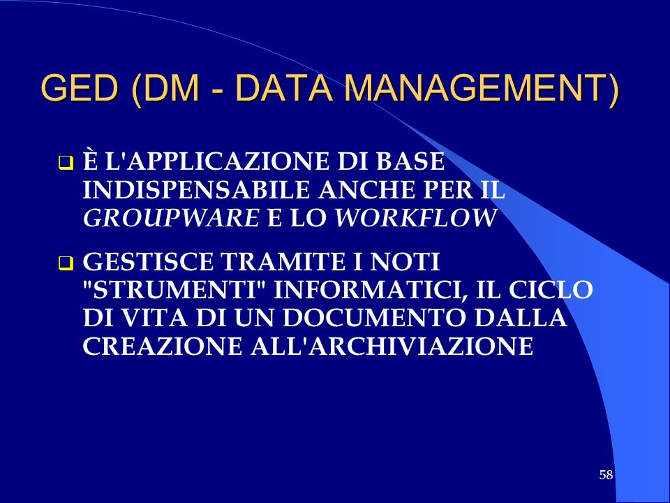 GED (DM - DATA MANAGEMENT)