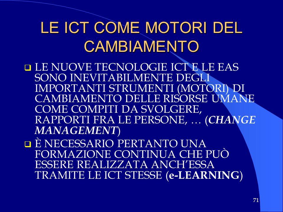 LE ICT COME MOTORI DEL CAMBIAMENTO