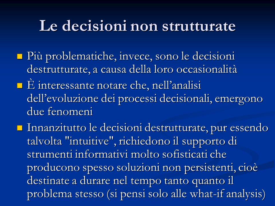 Le decisioni non strutturate