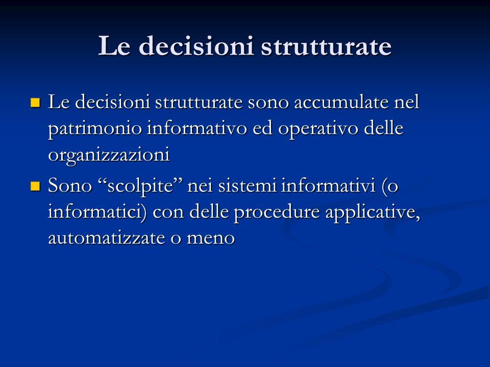 Le decisioni strutturate