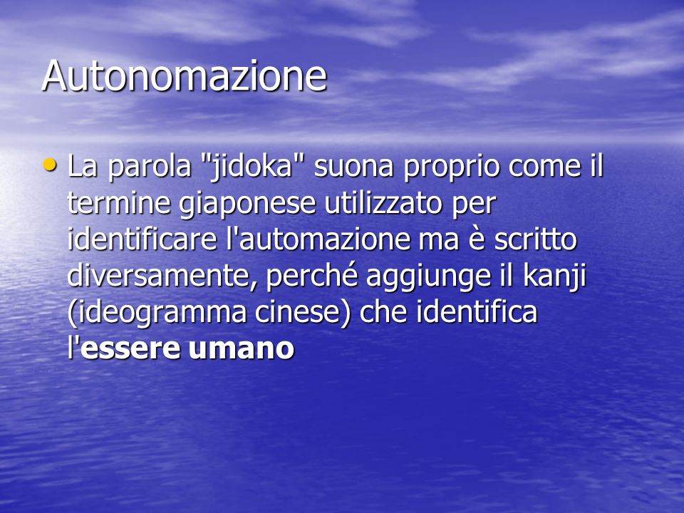 Autonomazione