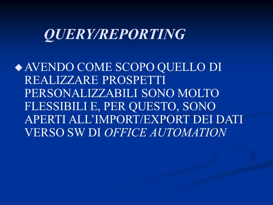 QUERY/REPORTING