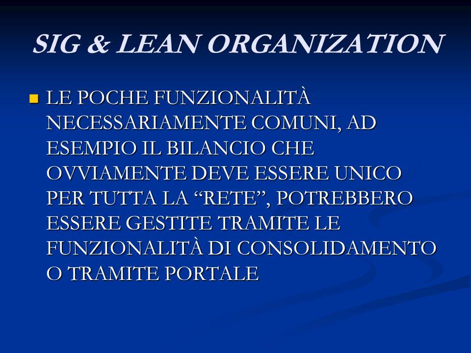 SIG & LEAN ORGANIZATION