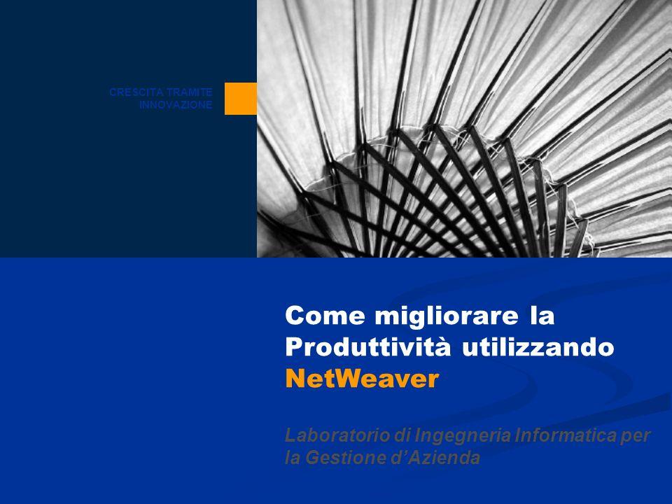 Come migliorare la Produttività utilizzando NetWeaver