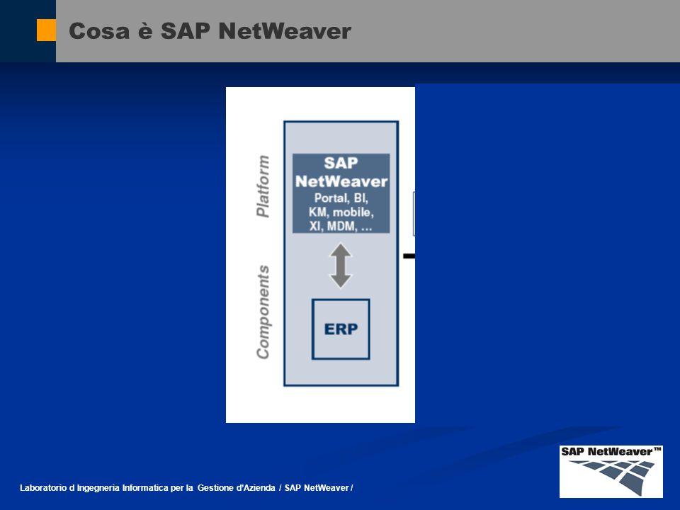 Cosa è SAP NetWeaver Laboratorio d Ingegneria Informatica per la Gestione d'Azienda / SAP NetWeaver /